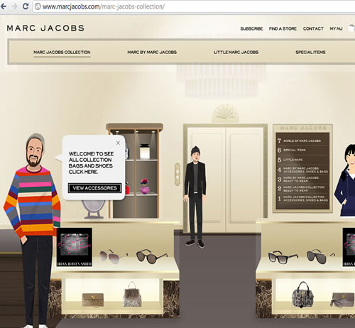 marcjacobs.com 2010 web-page  view