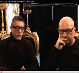 DOLCE&GABBANA'S YOUTUBE WINTER 2011 PRESS CONFERENC