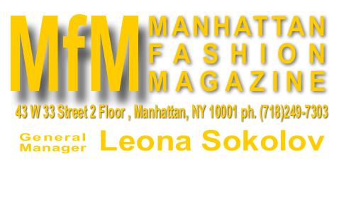 MFM Leona Sokolov Manhattan Fashion Magazine Business Card