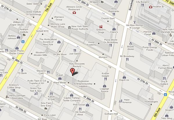 141 36 Street, New York, NY coli-couture com fashion Map