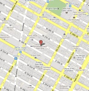 40 West 36 St.New York, NY 10018 map