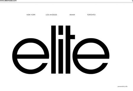 Elite Model Management agency new york on web
