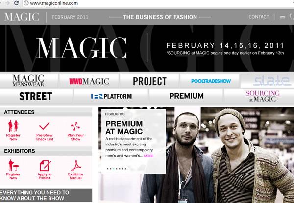 magiconline.com  fashion trade show business site