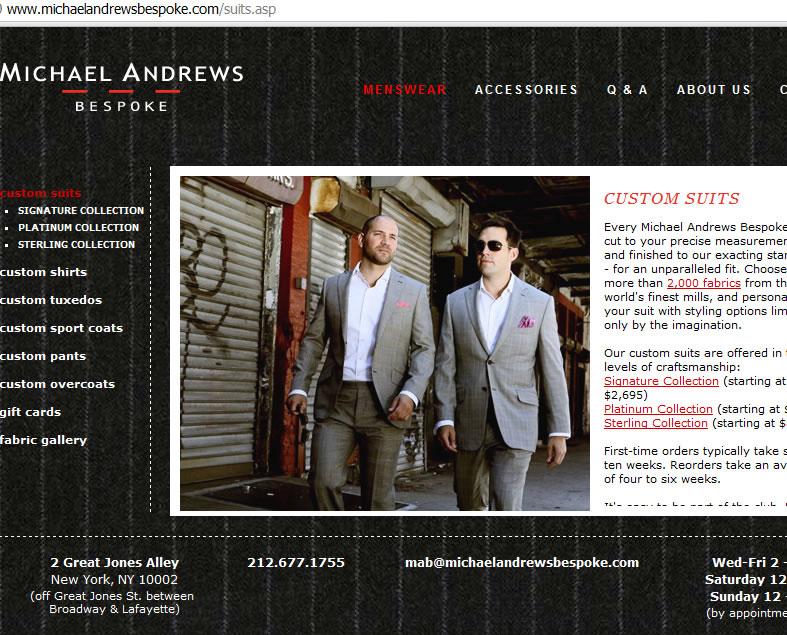 michael andrews bespoke.com  new york fashion