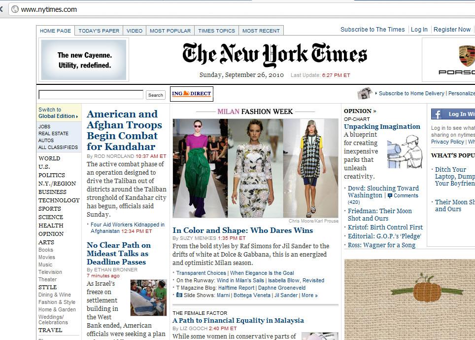 Milano Fashion Week 2010 New York Times pics