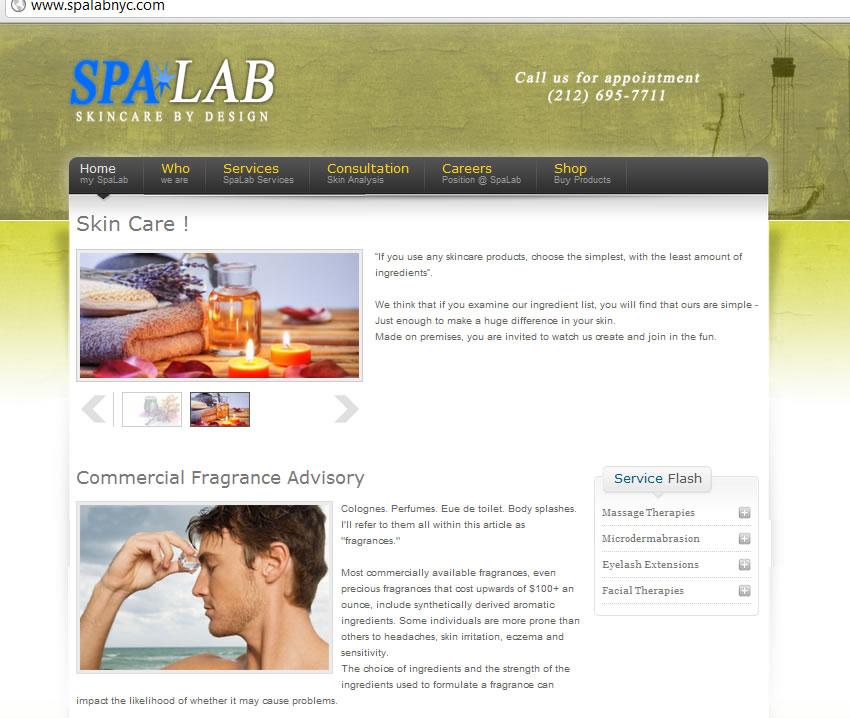 spalab Manhattan skinkare by design day spa massage