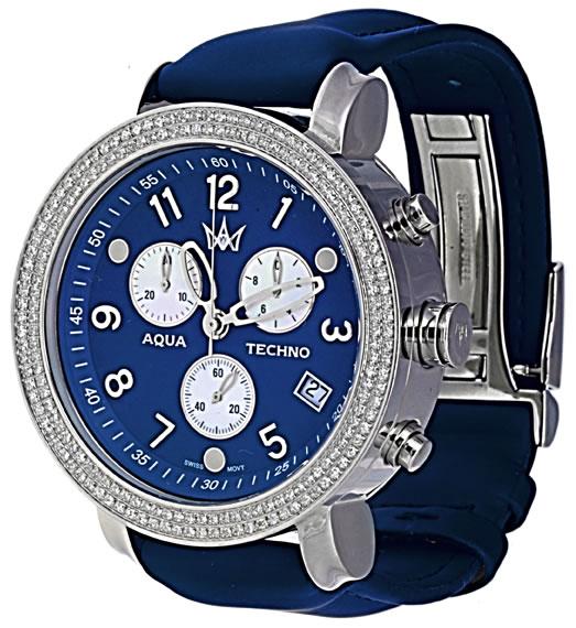 aqua techno diamond watch from New York