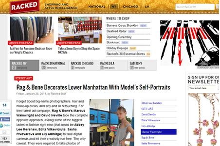 Rag and Bone Decorates Lower Manhattan With Models Self-Portraits NYC web cnup