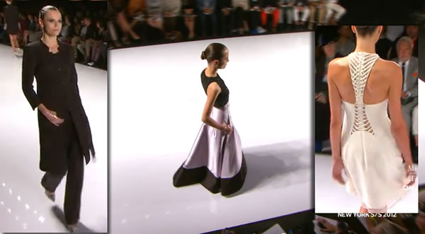 Chado Ralph Rucci SPRING 2012 Collection at Mercedes-Benz Fashion Week in New York Fashion 2011