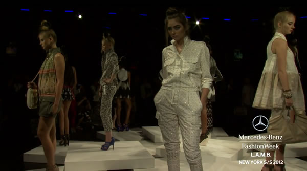 L.A.M.B. - MERCEDES-BENZ FASHION WEEK SPRING 2012 COLLECTIONS