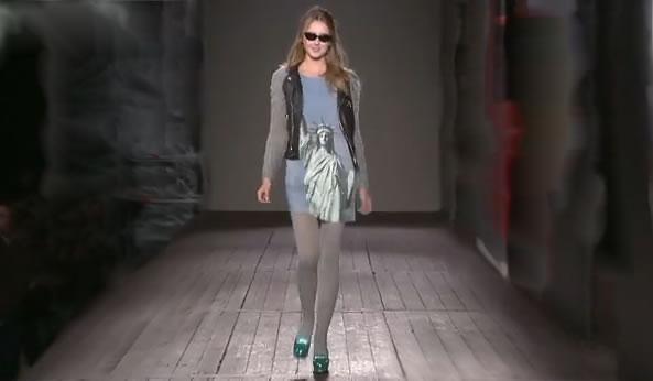 Moschino cheap and chic designer at work Rosella Jardini model
