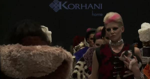 KORHANI home Fall 2012 runway collection at World MasterCard Fashion Week Toronto