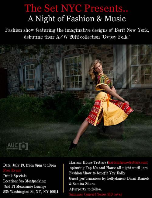 Set NYC show Manhattan Fashion Magazine Adv