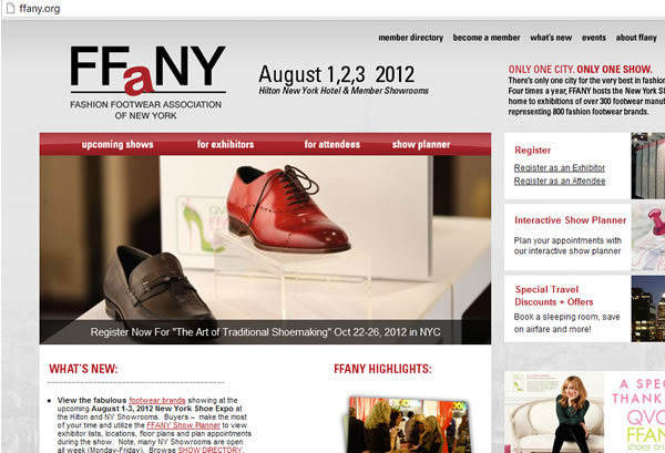 2012 New York Shoe Expo at the Hilton NY Showrooms