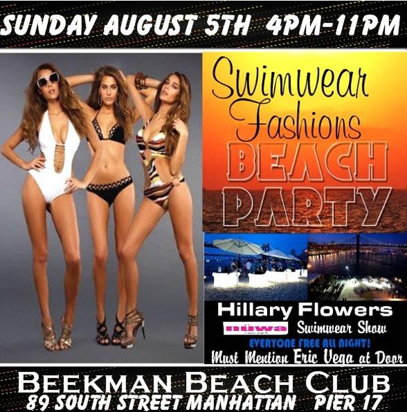 Manhattan Sweemwear Fashion Beach Party Fashion Show August 5th 2012 New York NY