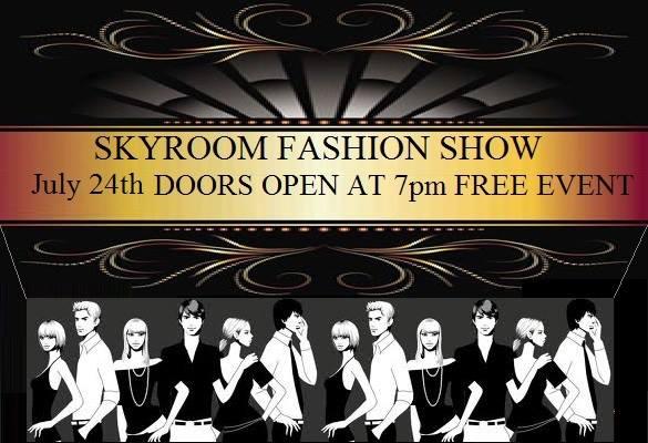 Skyroom Fashion Show July 24th New York 2013