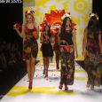 Mercedes-Benz Fashion Week September 2014. DESIGUAL FT ADRIANA LIMA: FINAL WALK AT MBFW S/S15 COLLECTIONS MANHATTAN FASHION MAGAZINE NEW YORK