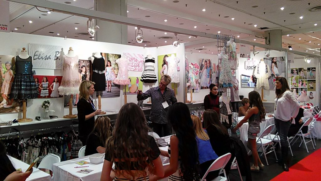 Elisa B and PinkRock on Kids Fashion Trade Show Children's Club New York October 2015