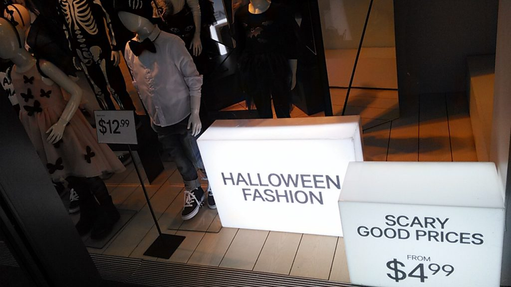 Fashion for Halloween. Scary Good Priced