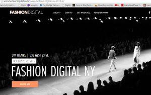 Fashion Digital New York 2015 website