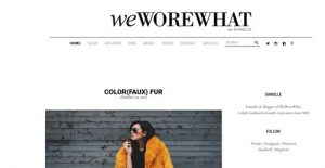 WEworewhat fashion New York 2015 October 29 NYC