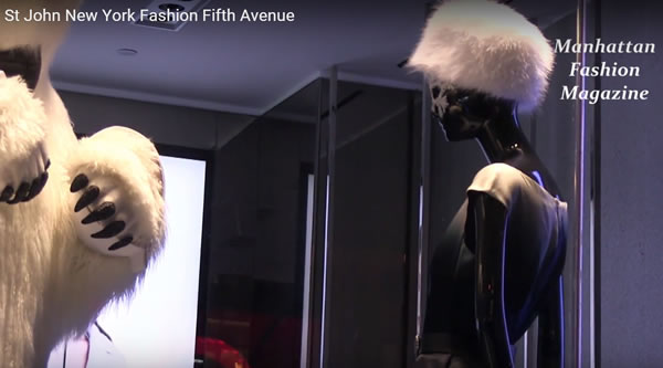Christmas fashion window displays  New York Fashion St John 2015