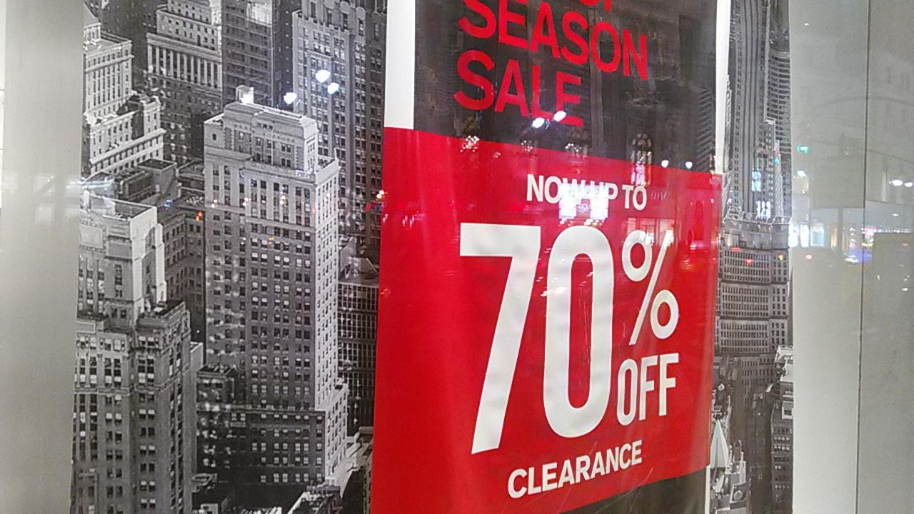 End of Season Sale. Express Fashion New York