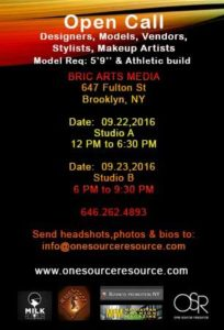 Open Call for Fashion Designers, Models, Stylist, Make-up Artist's and Vendors