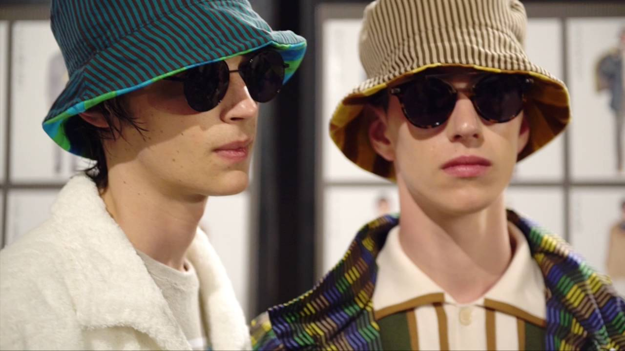 Get an exclusive tour behind the scenes of the colorful and playful Fendi Men's Spring/Summer 2017 fashion showat Milan Fashion Week.