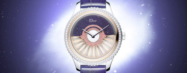 More on: http://www.dior.com/ The feathers of the new model in the Dior Grand Bal collection appear to twist and twirl against a star-speckled sky in this version boasting an aventurine […]